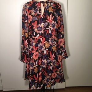 Beautiful abstract floral print dress